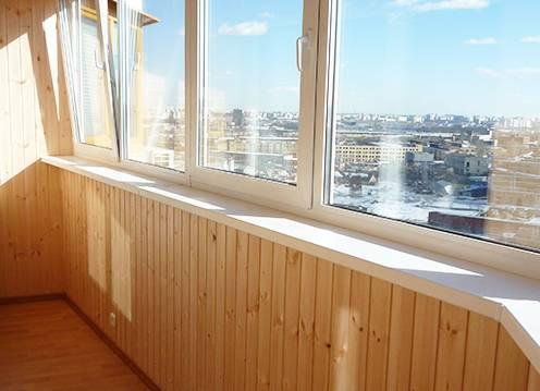 """Цены на отделку балконов и лоджий - """"окна комфорта""""."""