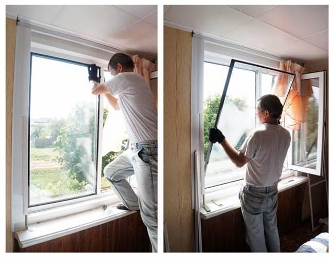 Замена стеклопакета пластикового окна
