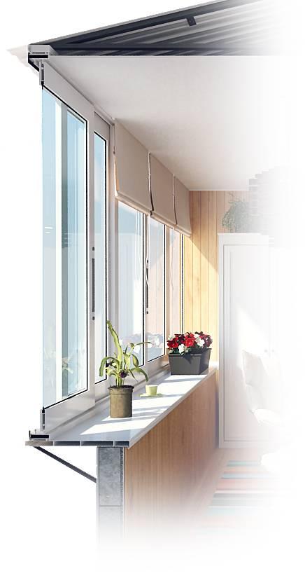Холодное остекление балконов алюминиевыми окнами