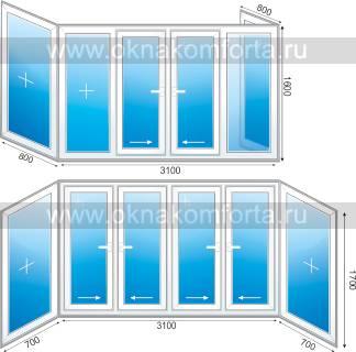 Размер стандартного балкона в панельном доме..
