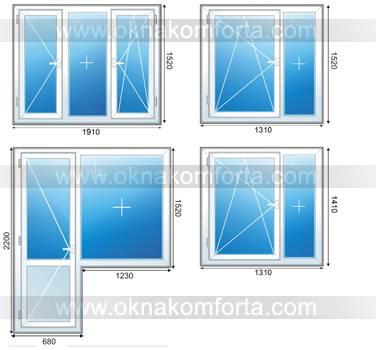 Типовые размеры пластиковых окон free.